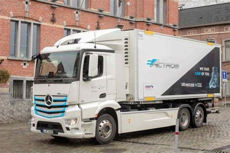 More mercedes electric cars are certain to follow the eqc's lead. First Mercedes-Benz eActros in Belgium: Van Mieghem Logistics tests battery-electric truck