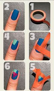 DIY Nail Art with ScotchTape | Nail Designs Mag