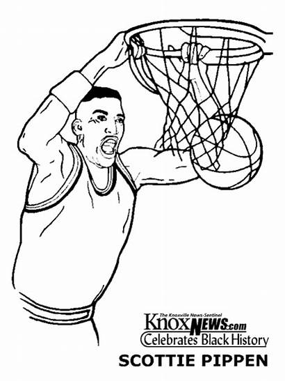 Coloring History Month Scottie Pippen Deportistas Colorear