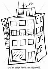 Hotel Building Illustration Vector Clipart Colorear Para Cartoon Hotels Pintar Adornar Imagen Clip Drawings Depositphotos Drawing Line Clever Dero2010 sketch template