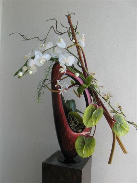 modern asian ikebana contemporary entry tampa