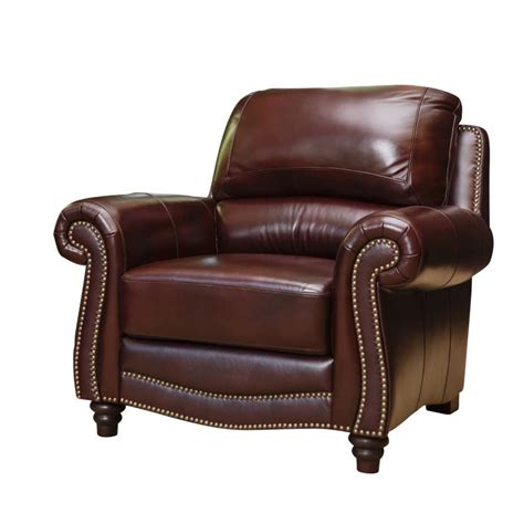 abbyson living terbella leather accent chair in