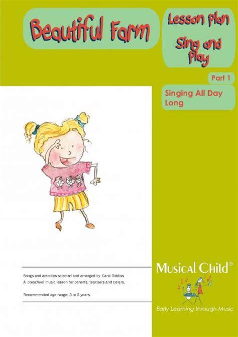 lessons for preschool lesson 112   Beautiful Farm Lesson Plan1 Page 1 500x707