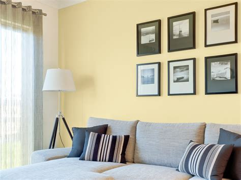 yellow living room feature wall inspirations paint