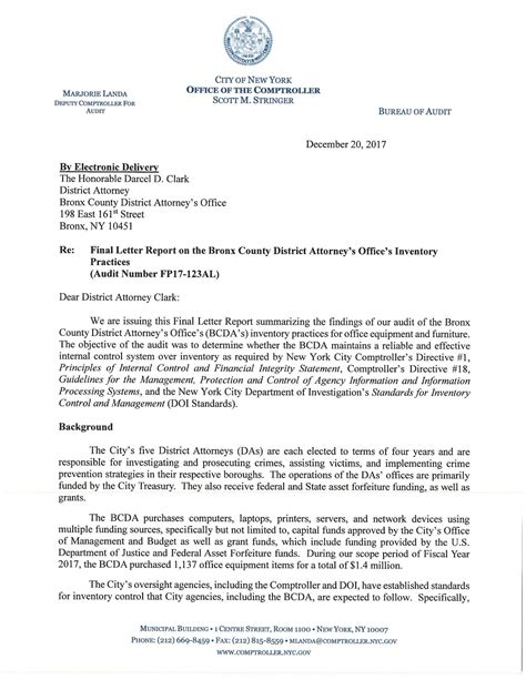 final letter report   bronx county district attorney