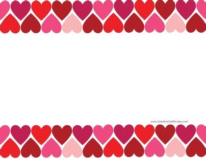 48+ Free Heart Border Clipart - Clip Art Library