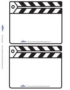 blank printable clapboard invitations coolest