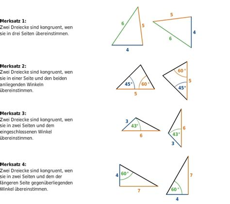 dreieckskonstruktionen und kongruenzsaetze