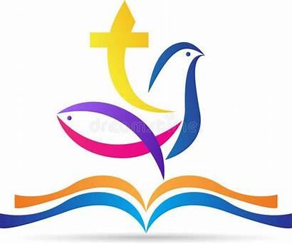 Cross Bible Dove Holy Fish Vector Calvary