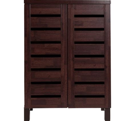 Argos Cupboards by Buy Home Slatted Shoe Storage Cabinet Mahogany Effect At