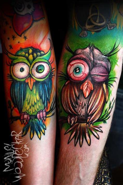 manuelwoodpecker partner eulen tattoos von tattoo