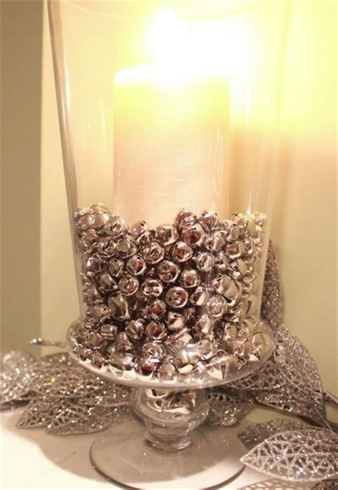 super easy diy christmas decor ideas jingle bells vase