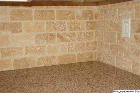 tumbled travertine subway tile updating the kitchen