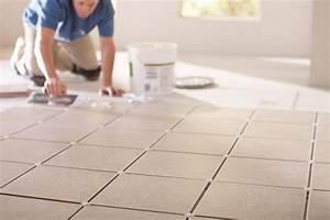 Laying ceramic or porcelain tile the home depot canada for How long does floor wax take to dry