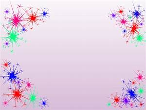 Fireworks clipart border - Pencil and in color fireworks ...