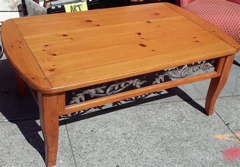 "The top separates for transport. UHURU FURNITURE & COLLECTIBLES: SOLD **REDUCED** 50"" x 30"" Knotty Pine Coffee Table - $30"
