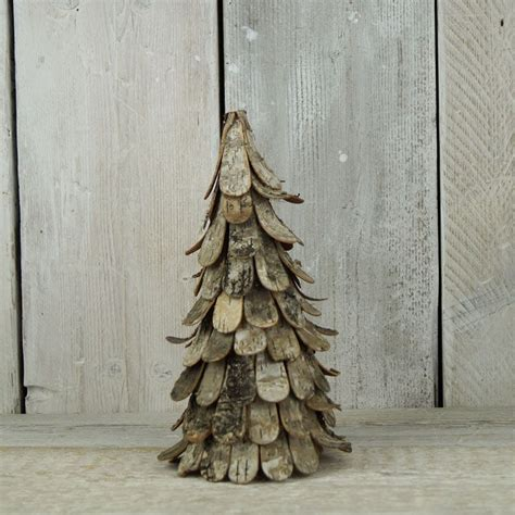 natural birch bark christmas tree cm tall unusual