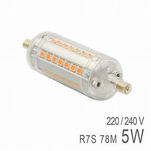 Ampoule Crayon Led : ampoule led r7s 5w 78mm prix mini ~ Nature-et-papiers.com Idées de Décoration