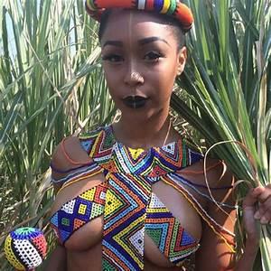 Minnie Dlamini shows off her sexy body in Zulu attire