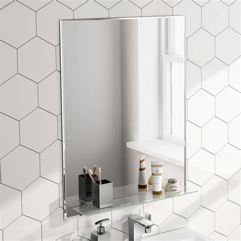 xmm rectangular bathroom mirror  glass storage