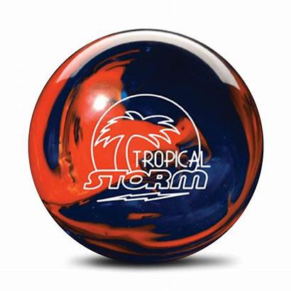 Storm Tropical Bowling Orange Navy Balls Weight