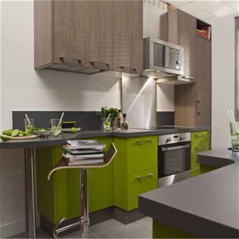 meuble de cuisine delinia composition type topaze vert vert botanique n 176 3 mat leroy merlin