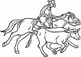 Coloring Roping Printable Cowboy Western Sheets Cowboys Adult sketch template