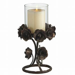 Rose Iron & Glass Pillar Candle Holder Midwest-CBK