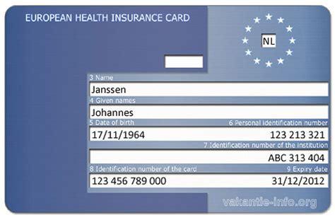 europese gezondheidskaart ehic gezinsverzekeringen