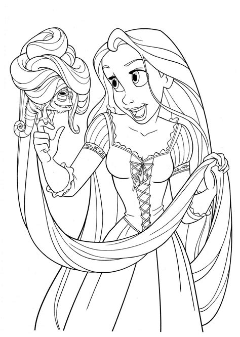 printable tangled coloring pages  kids