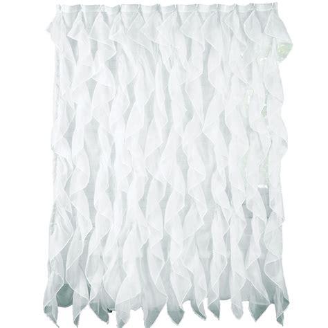 sheer fabric shower curtain ruffled cascade sheer fabric shower curtain by collections etc ebay
