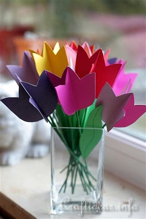 paper tulip bouquet fun family crafts