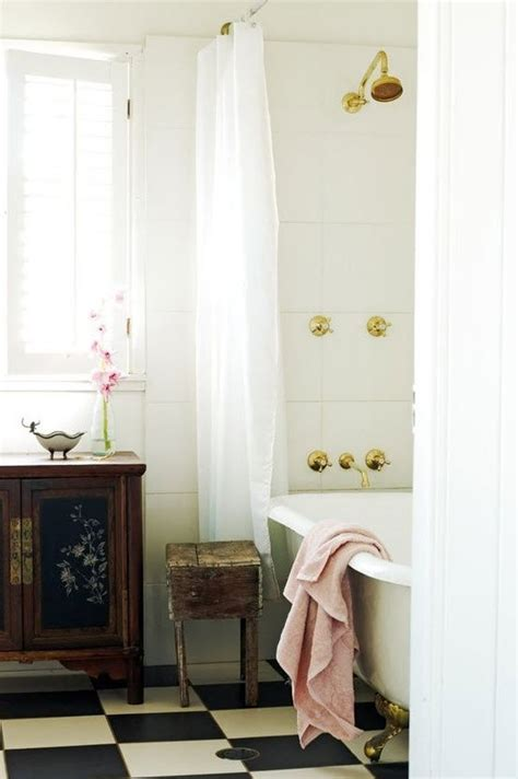 black  white checkered bathroom tile ideas