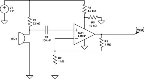 Amp Pre Amplifying Electret Microphone For Adc Input