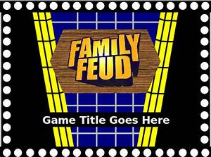 family feud game powerpoint template the highest quality With family feud template ppt