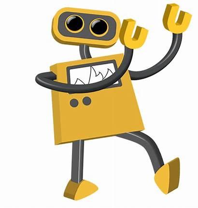 Welcome Robot Cartoon Moving Naka Matrix