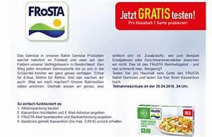 Frosta Gratis Testen : frosta rahmgem se kostenlos testen geld zur ck aktion ~ Markanthonyermac.com Haus und Dekorationen