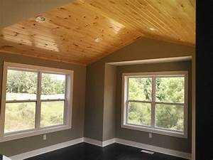 Dining Room With Knotty Pine Ceiling Built By Armstrong