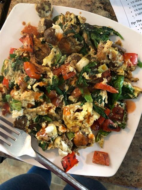 High calorie low calorie high protein low protein high carb low carb high fat low fat vegetarian vegan gluten free dairy free cheap quick are low fat cheeses decent alternatives on pizzas/burgers? yummy high volume egg breakfast! Only 260 calories ...
