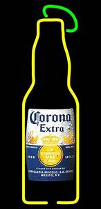 CORONA EXTRA BEER BOTTLE PALM TREE BEER BAR PUB NEON LIGHT