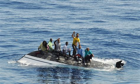 Immigrant Boat by Busy Waters Florida Illegal Immigration Surges From