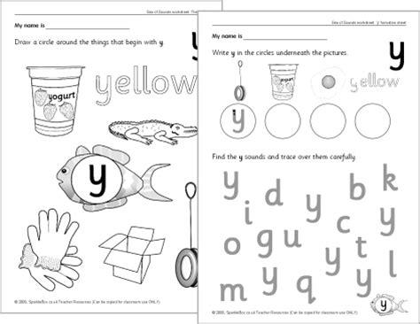 Letter 'y' Worksheets (sb528) Sparklebox
