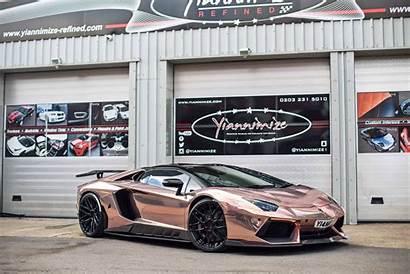 Lamborghini Looking Lambo Rose Chrome Wallpaperup Wrapped