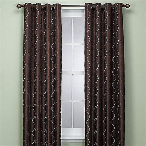 delano 72 inch window panel in chocolate curtains