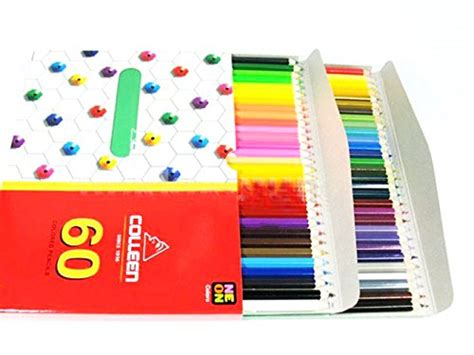 Colleen Neon Colored Pencils 60 Colors 60 Pencils Set
