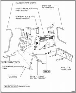 Toyota Sienna Service Manual  Rear Seat Outer Belt