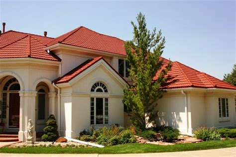 spanish style homes with red roof  Red tile roof field 15
