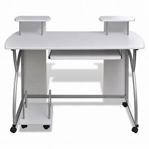 Mobiler Pc Tisch : computertisch pc tisch mobiler computerwagen b rotisch laptop wei g nstig kaufen ~ Frokenaadalensverden.com Haus und Dekorationen