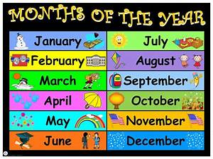 Free Attendance Charts To Print Months Of The Year English Jecc Marketplace