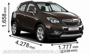 Dimensions Opel Mokka : dimensions of opel vauxhall cars showing length width and height ~ Medecine-chirurgie-esthetiques.com Avis de Voitures